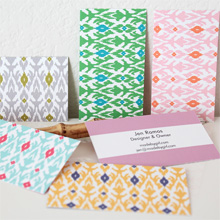 Two-sided Two-Color Ikat Cards