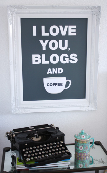 Blogs And Coffee Poster